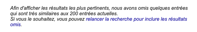 Index secondaire Google
